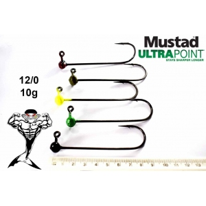 12/0  10g Mustad ultra point jigheads
