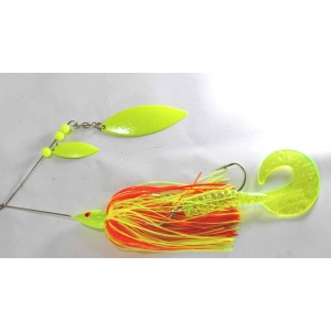 yellow/orange 66g muskie spinnerbait 1240