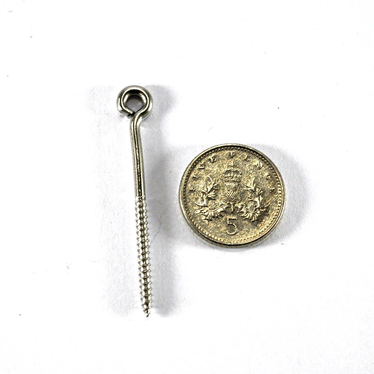 39mm Stainless steel screw eyes