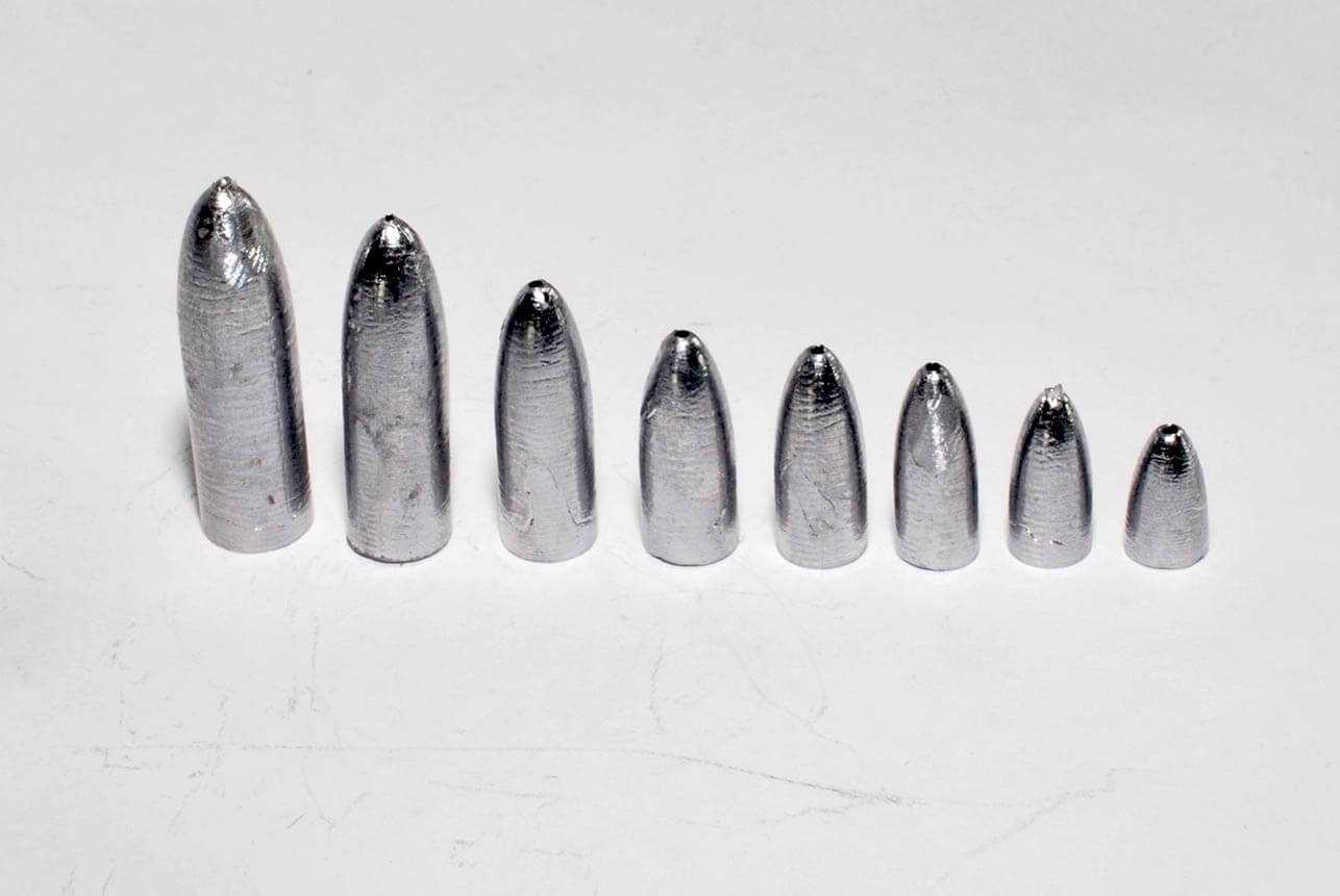 Lead cone worm weights