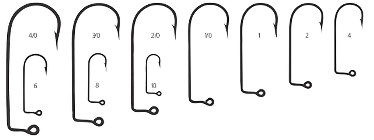 100 SIZE 10 MUSTAD 32755BR Aberdeen Jig Hooks for DO IT Molds 90 degree 32756